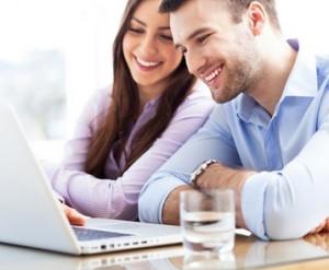 Couple seeking jobs online